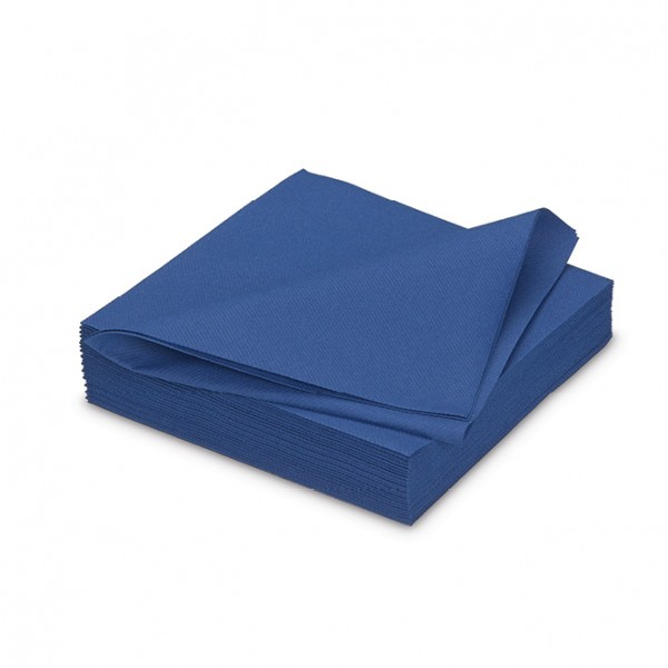 Fliesserviette, Gala, uni, Royal Blue, 40x40 cm, 25 Stk./Pkg.